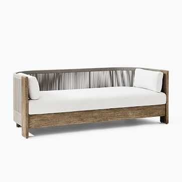 Porto Collection Driftwood + Warm Cement Cord Sofa - West Elm