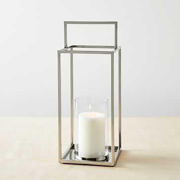 Simple Metal Lanterns, Tall, Set of 2 - West Elm