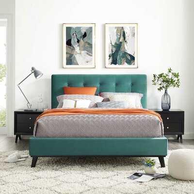 Dolan Biscuit Tufted Queen Upholstered Platform Bed - Wayfair