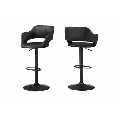 Iva Adjustable Height Swivel Bar Stool - AllModern