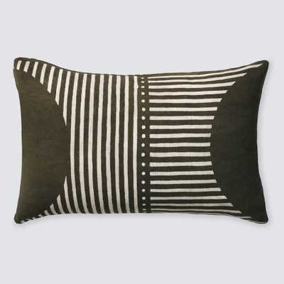 Demi Mud Cloth Lumbar Pillow - Olive By The Citizenry - The Citizenry
