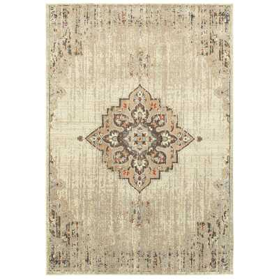 Solo Rugs Minta Brown/Ivory Rug Rug Size: Rectangle 5' x 8' - Perigold