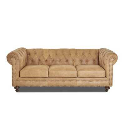 Pindall Leather Chesterfield Sofa - Wayfair