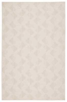 """Zemira Indoor/ Outdoor Geometric Cream Area Rug (8'9""""X12'5"""") - Collective Weavers"""