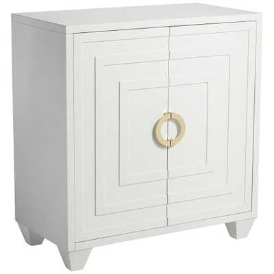 "Bertolli 30"" Wide White 2-Door Accent Cabinet - Style # 78Y91 - Lamps Plus"