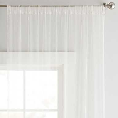 "Tulle Sheer Curtain Panel, 96"", Blush/Gold - Pottery Barn Teen"