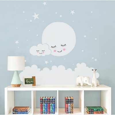 Burmeister Moon Clouds and Stars Wall Decal - Wayfair