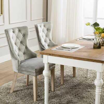 Wallick Tufted Velvet Upholstered Dining Chair - Wayfair