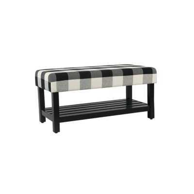 Solid Wood Shelves Storage Bench - Wayfair