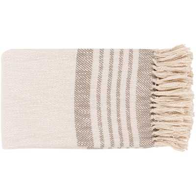Artistic Weavers Arthus Gray Throw Blanket, Taupe/Cream - Home Depot