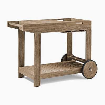 Portside Bar Cart, Driftwood - West Elm