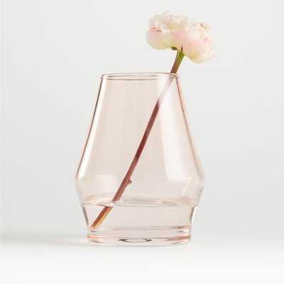 """Laurel Angled Pink Vase 6.25"""" - Crate and Barrel"""
