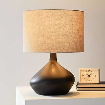 Asymmetric Table Lamp, Small, Black, Set of 2 - West Elm