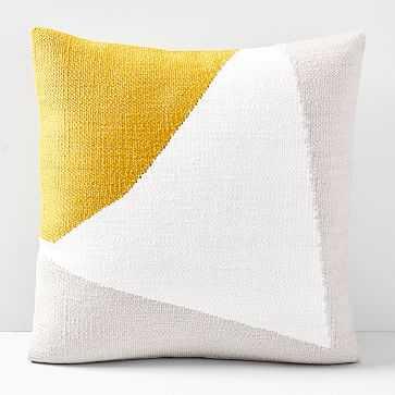 "Amplified Arrow Pillow Cover, Dark Horseradish, 20""x20"" - West Elm"