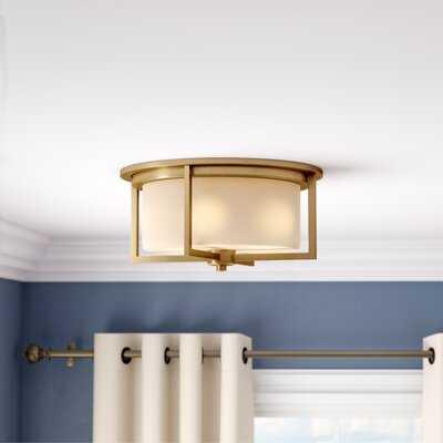 Tomlin 3-Light Flush Mount, Satin Brass - Wayfair