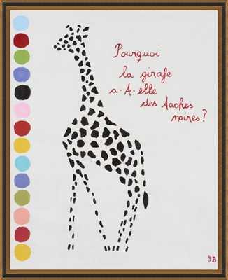 Giraffe by Gitte Brandt for Artfully Walls - Artfully Walls