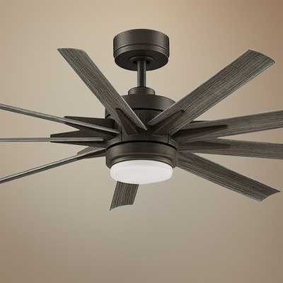 "56"" Fanimation Odyn Custom Matte Greige LED Ceiling Fan - Style # 67A83 - Lamps Plus"