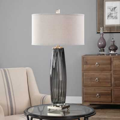 Vilminore Gray Glass Table Lamp - Hudsonhill Foundry