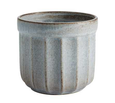 Mendocino StoNeware Planter, Blue - Small - Pottery Barn