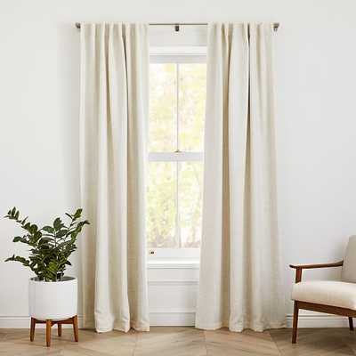 "Crossweave Curtain with Black Out Natural Canvas 48""x96"" - West Elm"