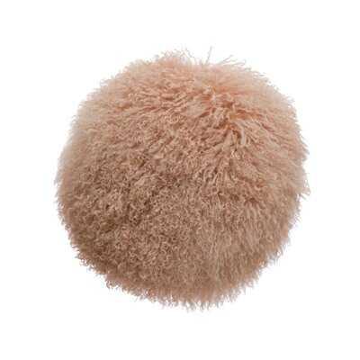 Faux Fur Round Throw Pillow - Wayfair