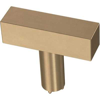 Liberty Square Bar 1-1/2 in. (32 mm) Champagne Bronze Cabinet Knob - Home Depot