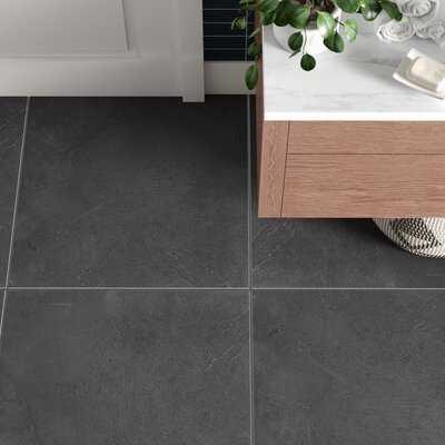 """Figueroa 24"""" x 24"""" Slate Stone Look Wall & Floor Tile - AllModern"""