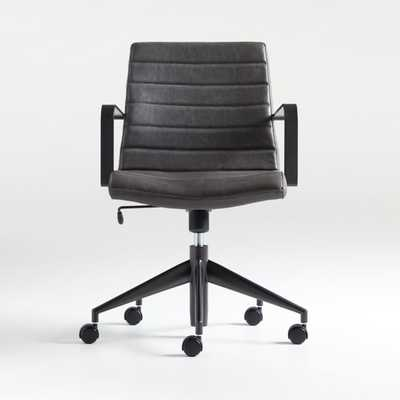 Graham Grey Office Chair - Crate and Barrel