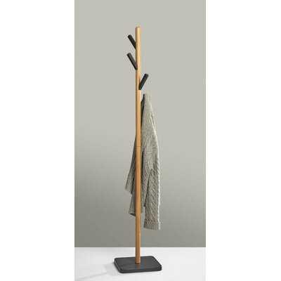 Neher Solid Wood 4 - Hook Freestanding Coat Rack - Wayfair