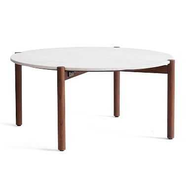 Bloomquist Round Marble Coffee Table - Pottery Barn