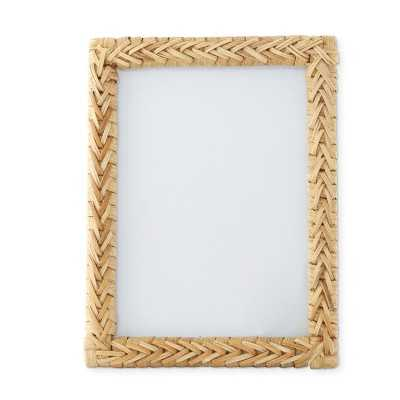 "Biscayne Rattan Gallery Frame, 5"" X 7"" - Williams Sonoma"