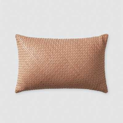 Dhara Leather Lumbar Pillow - Small By The Citizenry - The Citizenry
