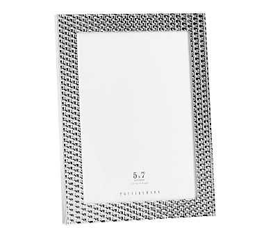 "Patterned Silver Frame, 5"" x 7"" - Pottery Barn"