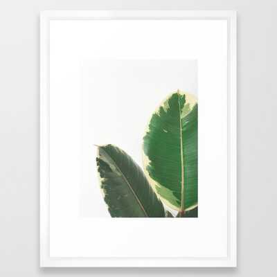 Leaf Study Framed Art Print by Cassia Beck - Vector White - MEDIUM (Gallery)-20x26 - Society6