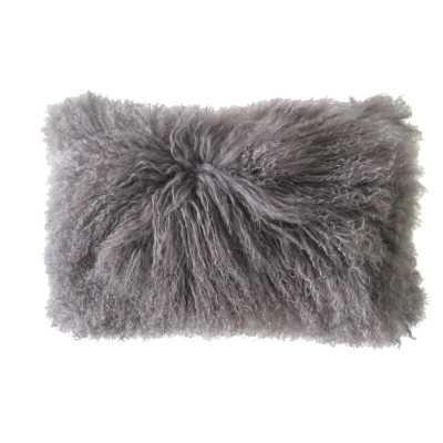 Rectangular Lumbar Pillow Color: Grey - Perigold