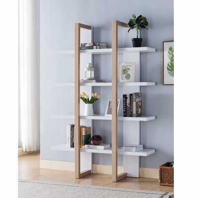 "Javontaye 71"" H x 47"" W Etagere Bookcase - Wayfair"