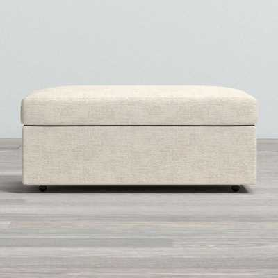 Gather Storage Ottoman - Monet, Champagne - Crate and Barrel
