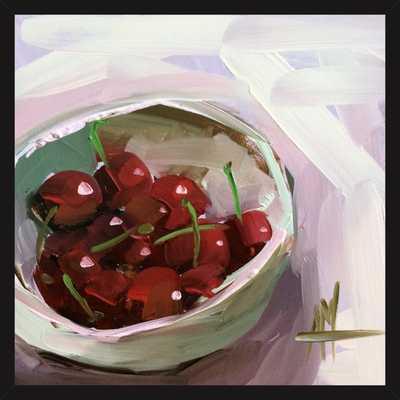 bowl of cherries no. 7 by Angela Moulton for Artfully Walls - Artfully Walls