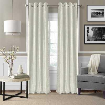 Victoria Velvet Solid Room Darkening Thermal Grommet Single Curtain Panel - Birch Lane