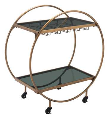 Arc Bar Cart Gold & Black - Zuri Studios