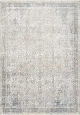 "Loloi Gemma GEM-02 Sky / Ivory 7'-7"" x 9'-10"" - Loma Threads"