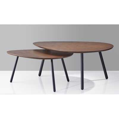 Hana Nesting 2 Piece Coffee Table Set - Wayfair