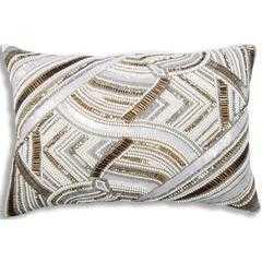 Cloud 9 Islay Lumbar Pillow, Blue - High Fashion Home