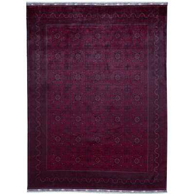 """Bokara Rug Co., Inc. One-of-a-Kind Afghan Hand-Knotted 9'9"""" x 12'10"""" Wool Red Area Rug - Perigold"""