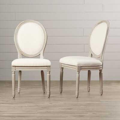 Anaya Linen Upholstered Upholstered King Louis Back Side Chair - Wayfair