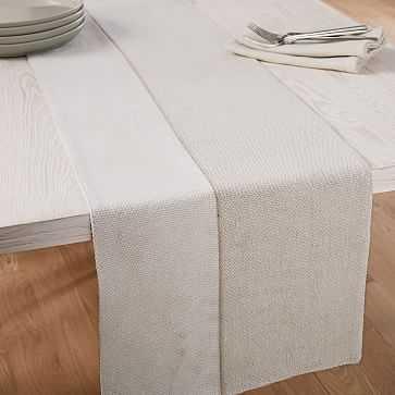Cotton Canvas Table Runner, Belgian Flax - West Elm