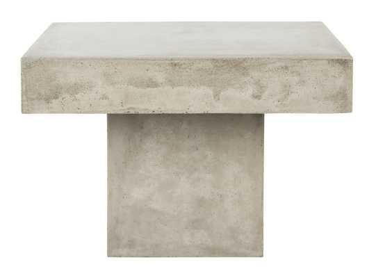 Tallen Indoor/Outdoor Modern Concrete 15.75-Inch H Coffee Table - Dark Grey - Arlo Home - Arlo Home