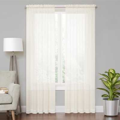 Vue Voile Ivory Sheer Window Curtain - 59 in. x 108 in. L - Home Depot
