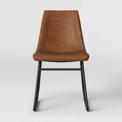 Bowden Faux Leather And Metal Dining Chair Caramel - Project 62 , Size: Fully Assembled 1 Pack - Store Pick Up Only - Target