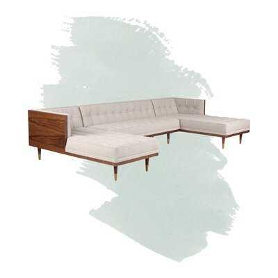 "Ledger 126.6"" Box Sofa U-Shaped Symmetrical Modular Sectional - Wayfair"